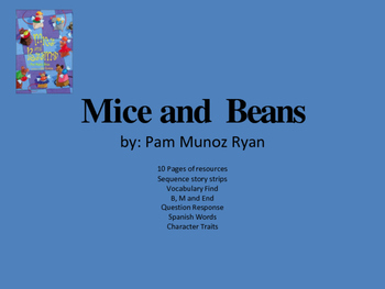 Mice and Beans Book Picture Book  Unit 12 Pages