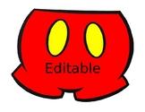 Editable Mickey Hands, Head, Shoe, and Pants
