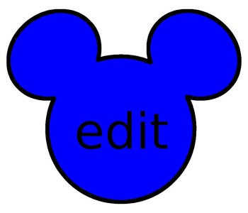 Editable Mickey Heads in many colors