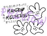 Disney theme Mickey Mouse Handy Helpers Job Chart Bulletin Board