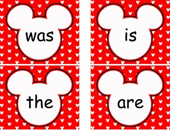Editable Mickey themed Word Wall Card Bundle