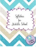 Editable Visual Middle School Syllabus