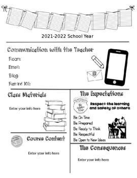Editable Visual Middle School Syllabus