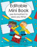 Editable Mini Book