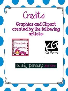Editable Mini Clip Charts
