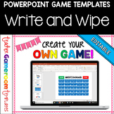 Editable Write and Wipe Game Powerpoint Game Template