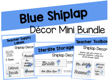 Editable Mini Shiplap Decor Bundle