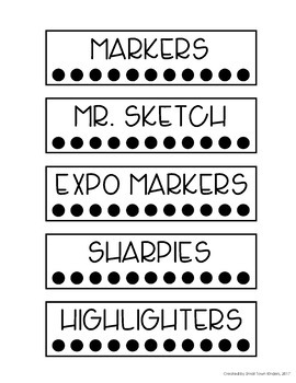 Editable Mini Sterilite Drawer Labels