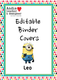 Editable Minions Inspired Binder Covers & Spines Boy/Girl