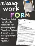 Editable Missing Work Form