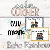 Editable Modern Boho Pastel Rainbow Calm Corner