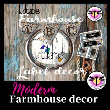 Editable: Modern Farmhouse Labels - Stain wood