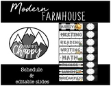 Editable Modern Farmhouse Schedule with Clock