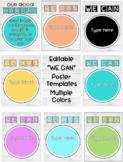 "Editable Modern Farmhouse/ Shiplap ""We Can"" Poster Set for behavior objectives"