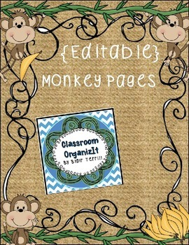 {Editable} Monkey Pages/Class Roster/Schedule/Lists