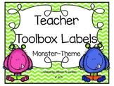 Editable Monster Labels for The Teacher Toolbox