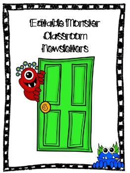 Editable Monster Monthly Newsletters