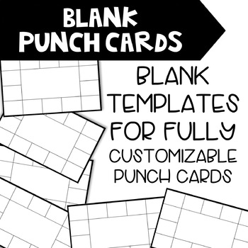 Editable Monster Themed Punch Cards
