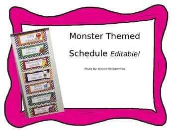 Editable Monster Schedule
