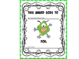 FREE AND Editable Monster Theme Certificate