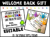Editable Monster Theme Meet the Teacher Gift Tag