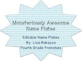 Editable Monster Theme Name Plates