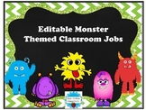 Editable Monster Themed Job Cards