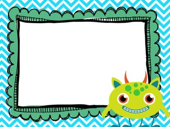 Editable Monster and Chevron Classroom Posters