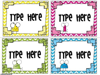 Editable Labels-Monster and Chevron Labels