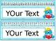 Editable Monster themed Desk Nameplates with manuscript &