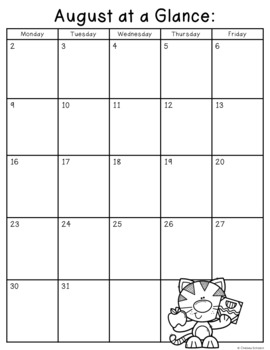 Editable Month at a Glance & Behavior Record {For Easy Parent Communication!}