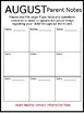 Editable Monthly Behavior Chart