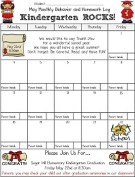 Editable Monthly Behavior Charts for 2014-2015 (Microsoft Publisher Format)
