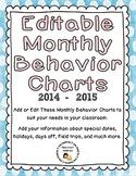 Editable Monthly Behavior Charts for 2014-2015 (Microsoft