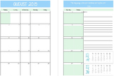 Editable Monthly Planner 2015-2016 Beginning on Monday