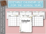 Editable Monthly Calendar 2018-2019 Free Updates
