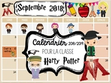Editable Monthly Calendar 2018-2019 HARRY POTTER/ Rentrée calendrier modifiable
