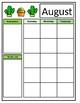 Editable Monthly Calendar - Cactus