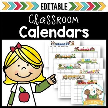 Editable Monthly Calendar Templates