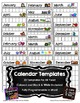 Editable Monthly Calendar Templates