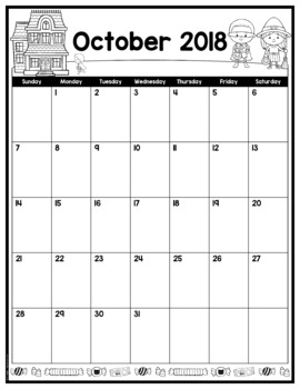 Editable Monthly Calendar Templates - Portrait/Vertical Format