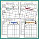Editable Monthly Calendar Templates - Seasonal Theme - Landscape & Letter Format