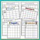 Editable Monthly Calendar Templates - Seasonal Theme - Lan