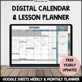 Editable Monthly Calendar + Weekly Lesson Planner | Google