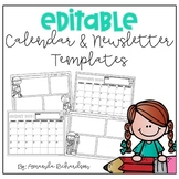 Editable Newsletters and Calendars 2018-2019
