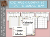 Editable Monthly Calendar with Free Updates | Hearts