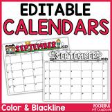 Monthly Editable Calendars 2018-2019