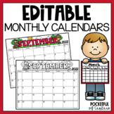 Monthly Editable Calendars 2018-2019
