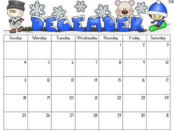 editable monthly calendar for teachers