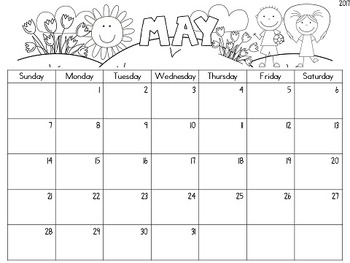 {Editable} Monthly Calendars 2018-2019